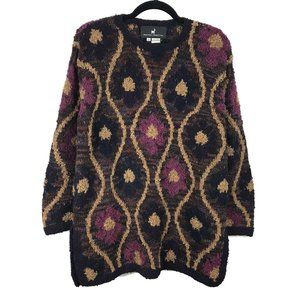 Peruvian Connection 100% Wool Floral Sweater S